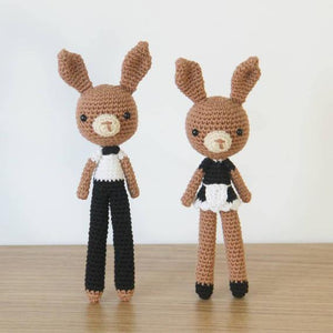 Costume Bunny Waiter Waitress PDF Amigurumi Crochet Pattern - Little Bear Crochets