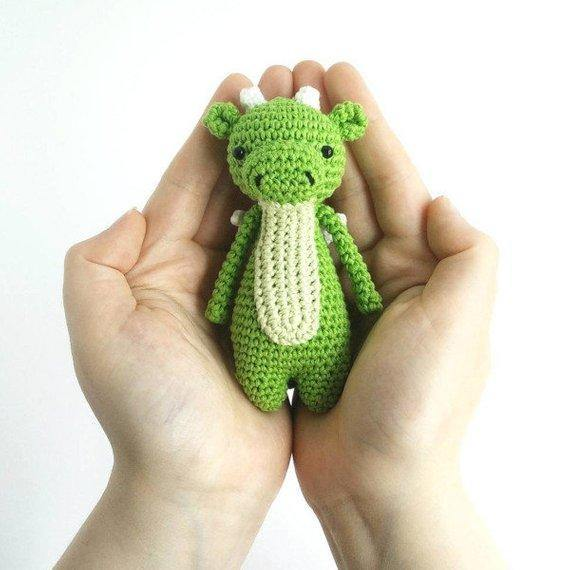 Mini Dragon PDF Amigurumi Crochet Pattern - Little Bear Crochets
