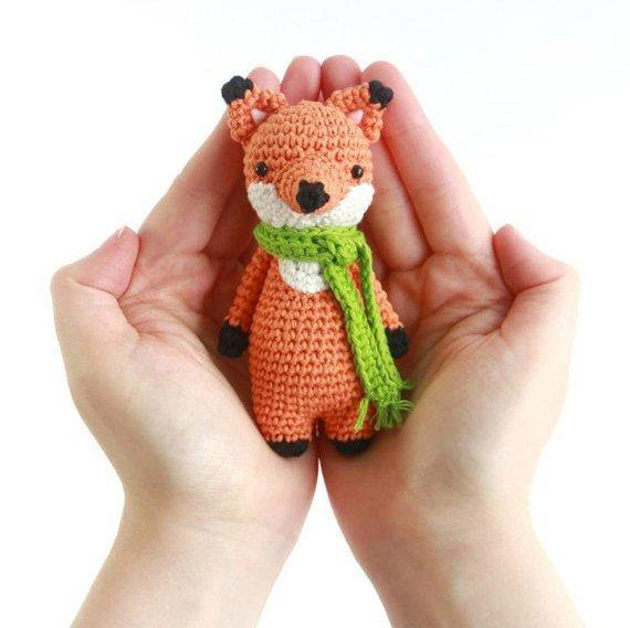 Mini Fox PDF Amigurumi Crochet Pattern - Little Bear Crochets