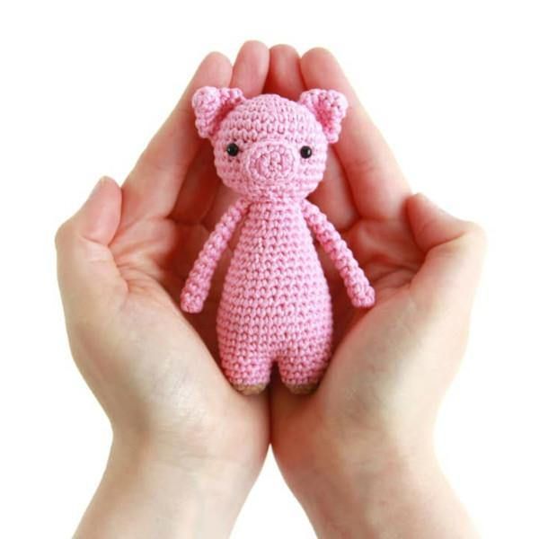 Mini Pig PDF Amigurumi Crochet Pattern - Little Bear Crochets