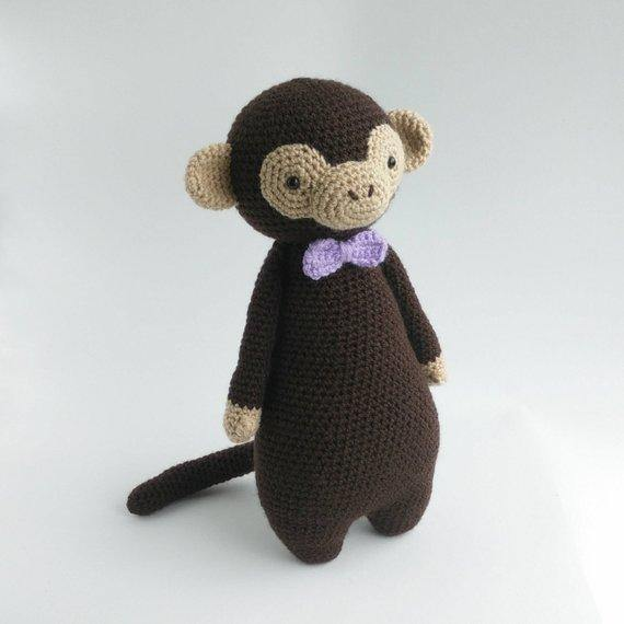 Monkey PDF Amigurumi Crochet Pattern - Little Bear Crochets