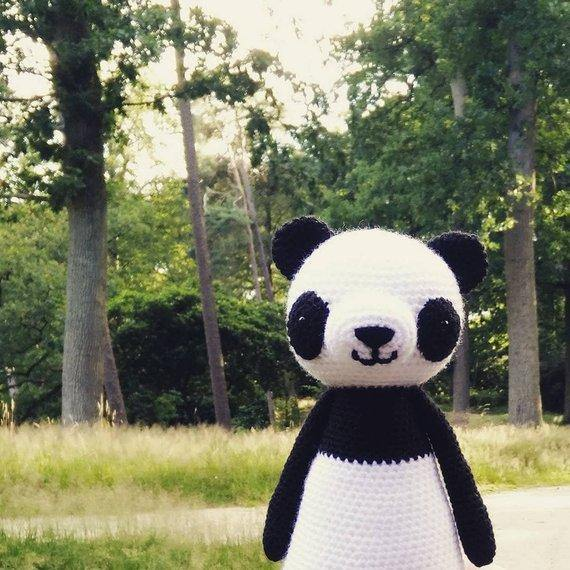 Panda PDF Amigurumi Crochet Pattern - Little Bear Crochets