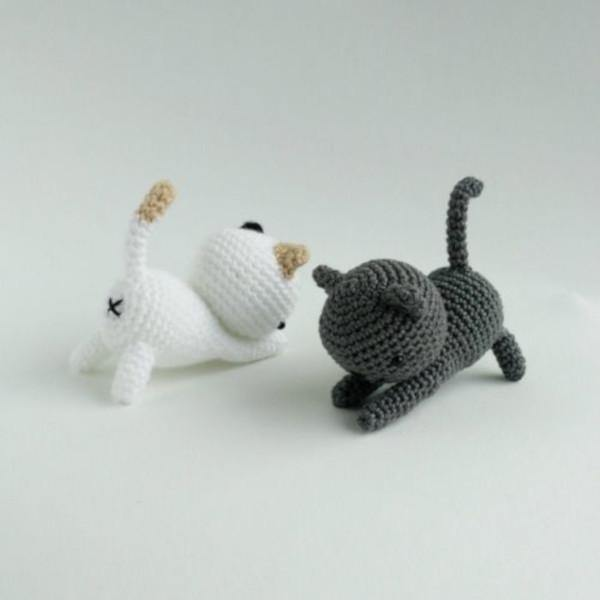 Playing Cats PDF Amigurumi Crochet Pattern - Little Bear Crochets