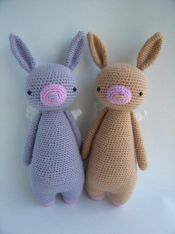 Rabbit PDF Amigurumi Crochet Pattern - Little Bear Crochets