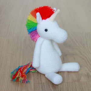 Rainbow Unicorn PDF Amigurumi Crochet Pattern - Little Bear Crochets