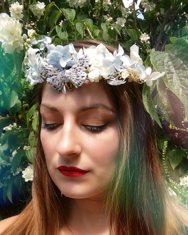 Imbolc Embroidered Moth Crown
