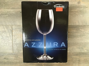 Azzura 4 White Wine glasses 9 oz