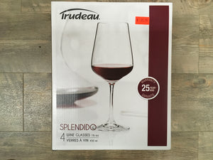 Splendido 4 Wine glasses 16 oz