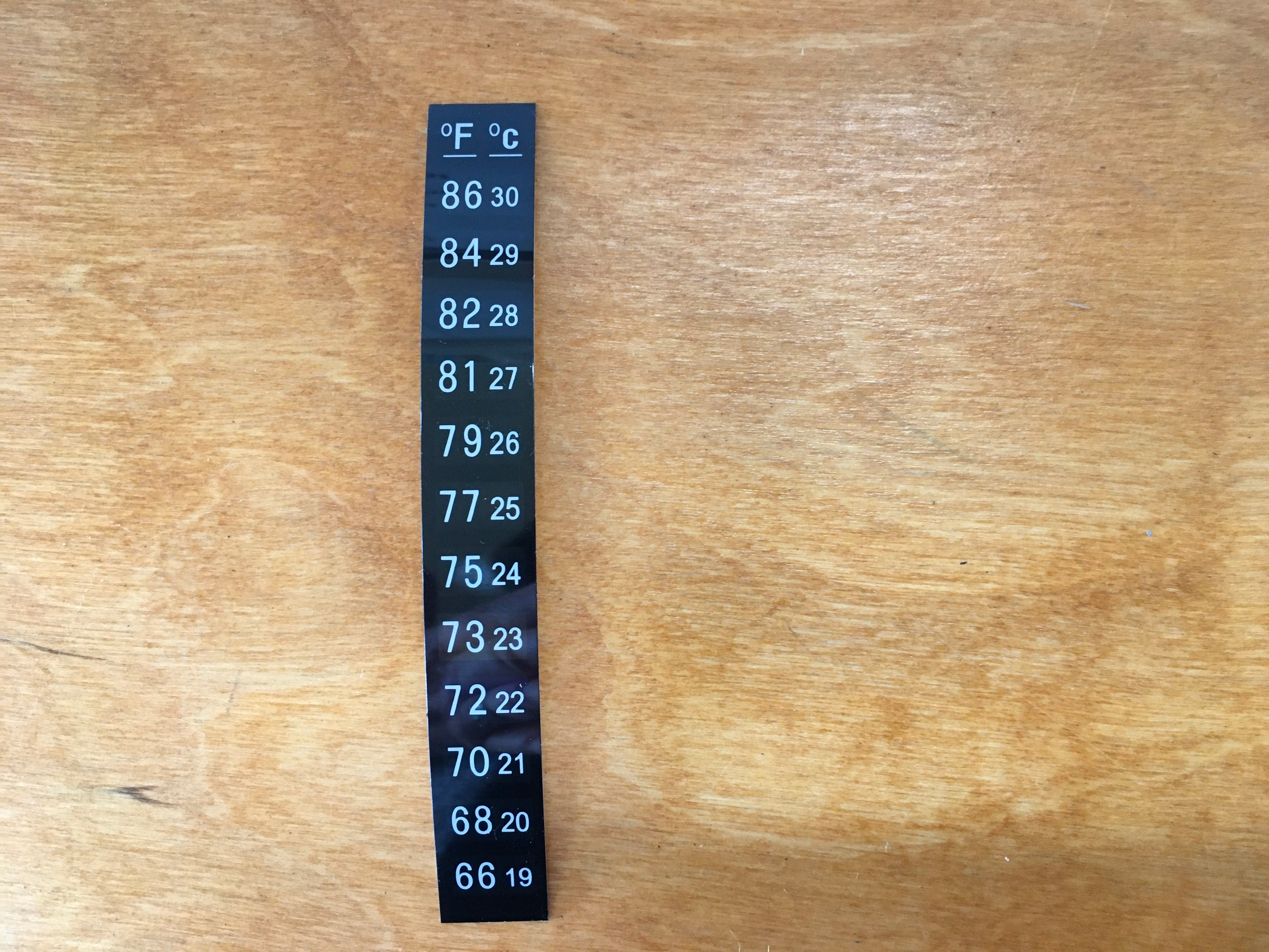 Peel & Stick thermometer