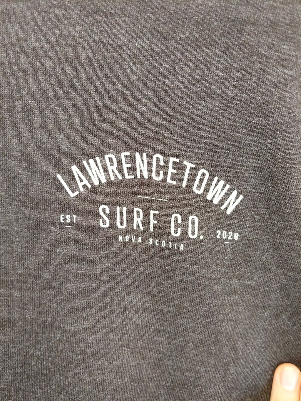 Lawrencetown Surf Co. Heavy Weight Hoodie - Charcoal Grey / White