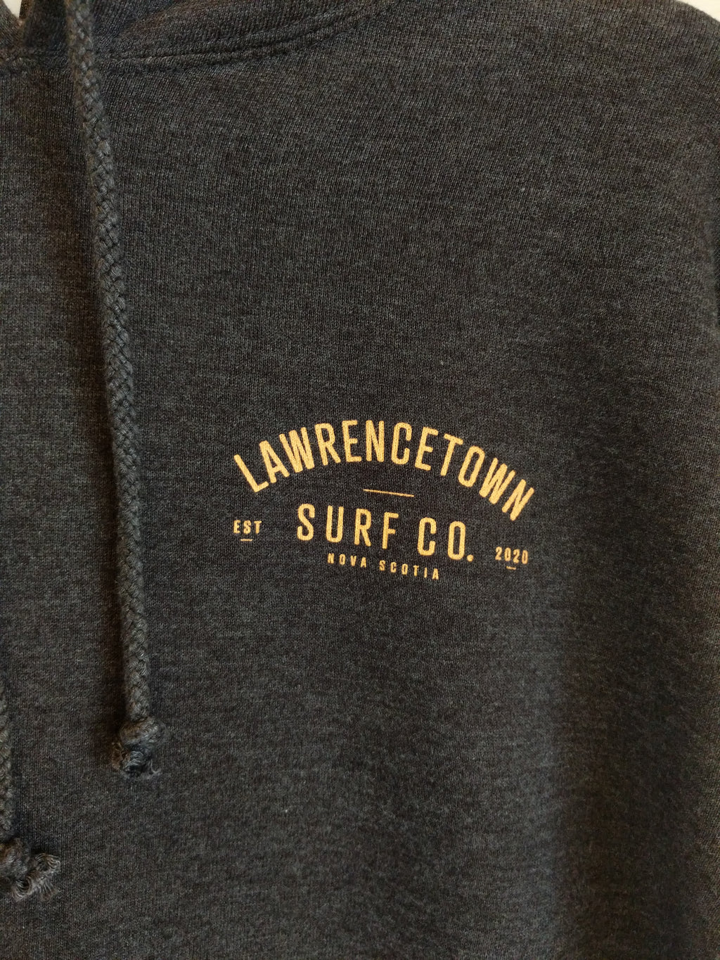 Lawrencetown Surf Co. Heavy Weight Hoodie - Charcoal Grey / Peach