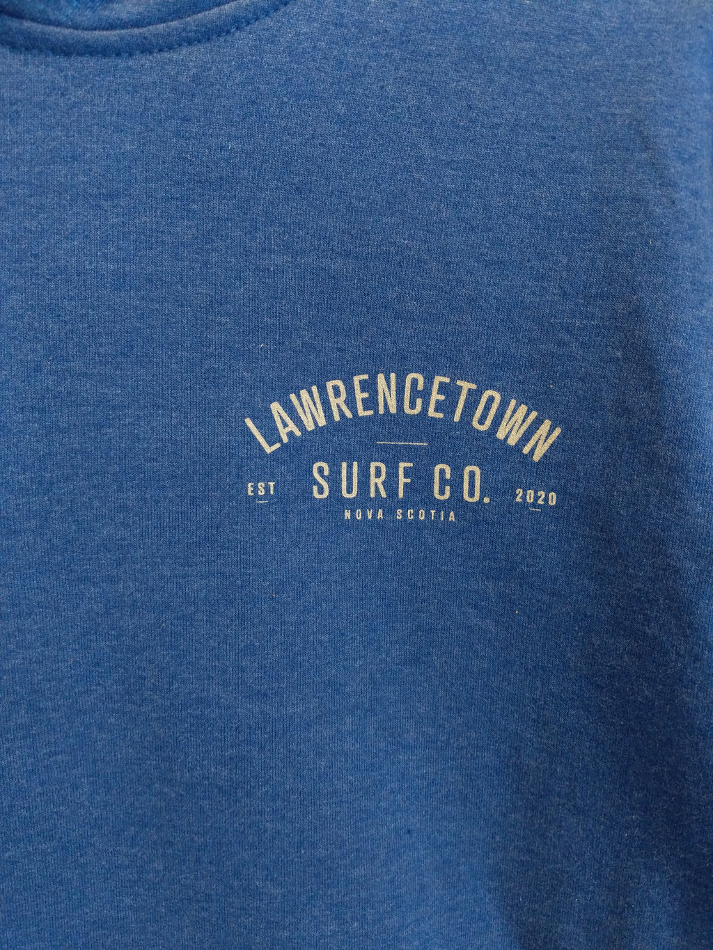Lawrencetown Surf Co. Midweight Hoodie - Royal Blue / White