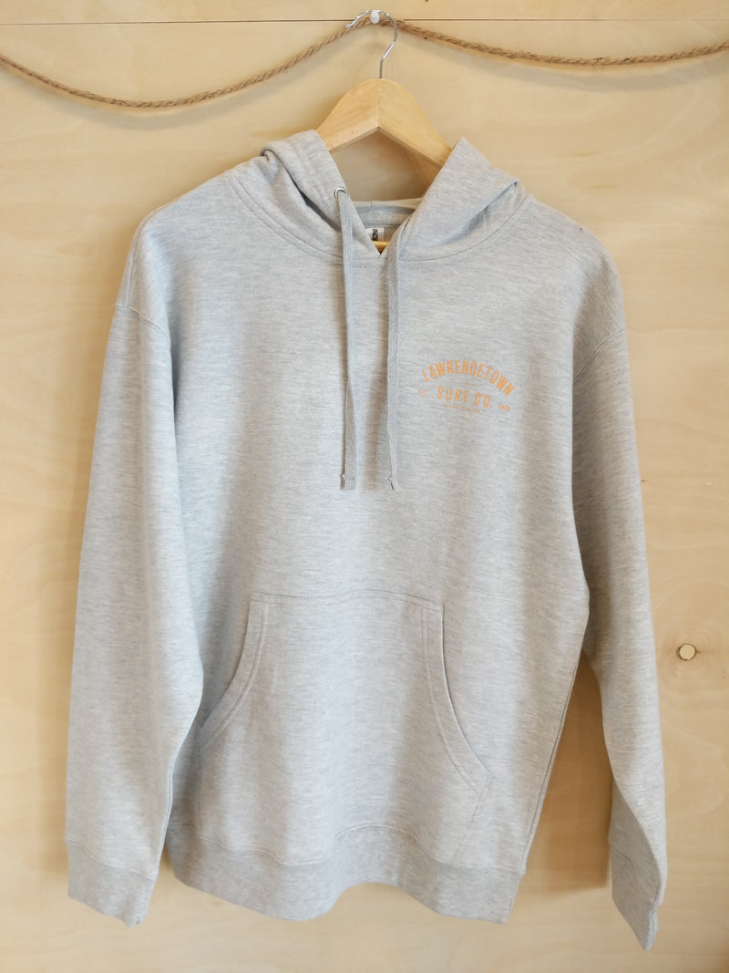 Lawrencetown Surf Co. Midweight Hoodie - Heather Grey / Peach