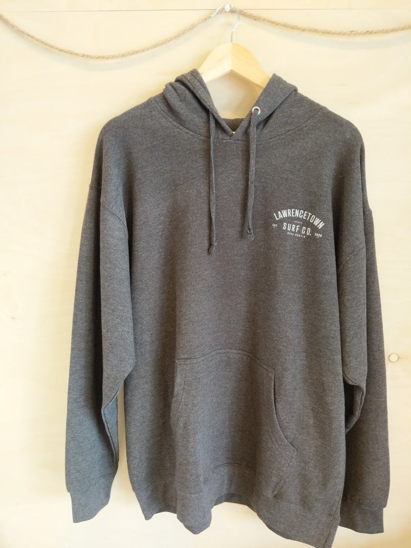 Lawrencetown Surf Co. Midweight Hoodie - Charcoal Grey / White