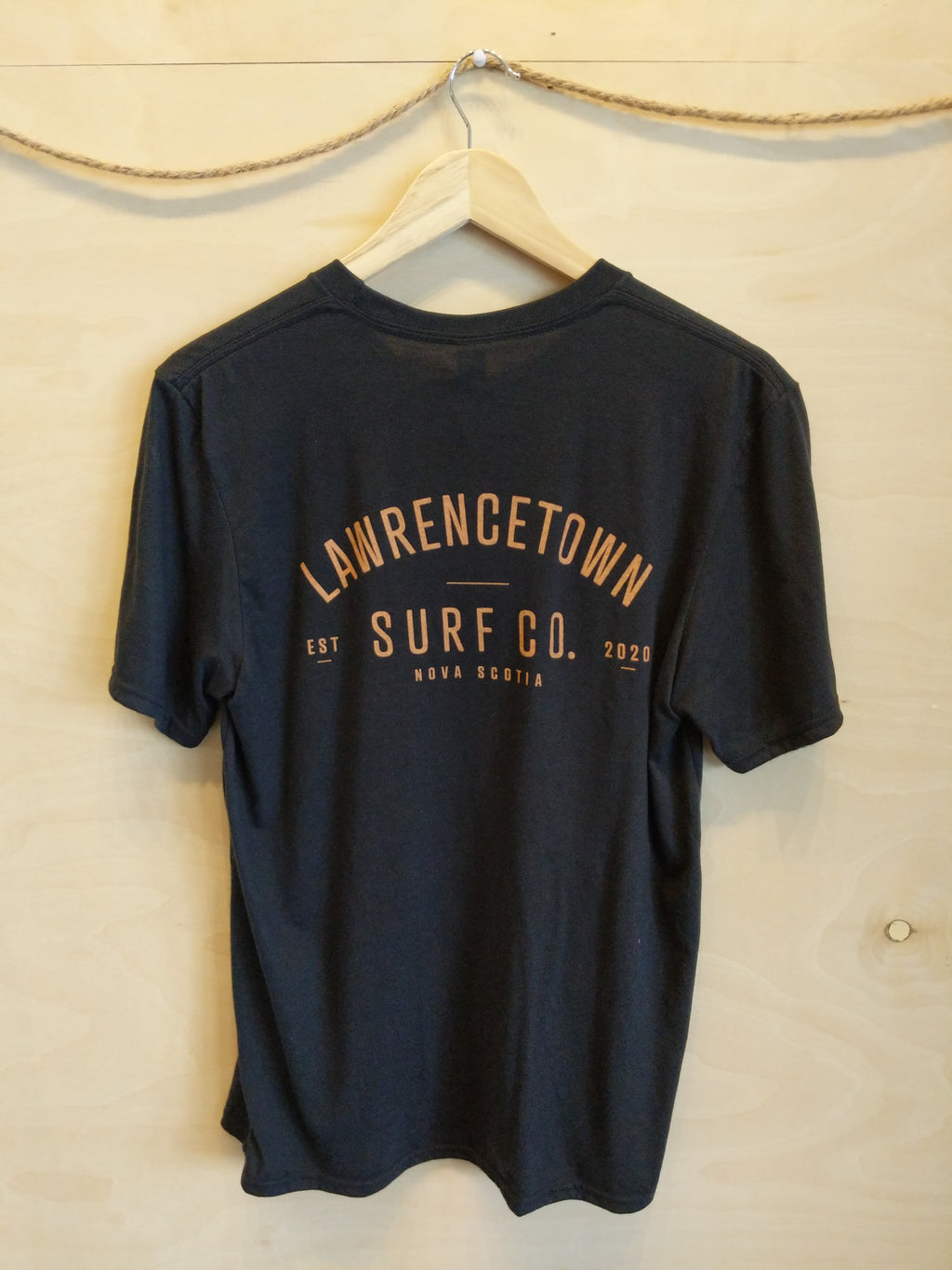 Lawrencetown Surf Co. Adult Tee - Black / Peach