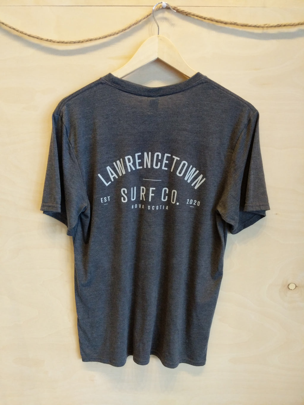 Lawrencetown Surf Co. Adult Tee - Grey / White