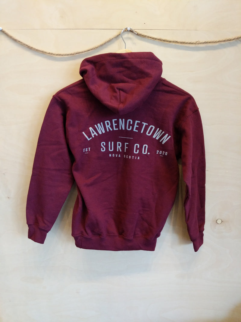 Lawrencetown Surf Co. Youth Heavy Blend Hoodie - Maroon
