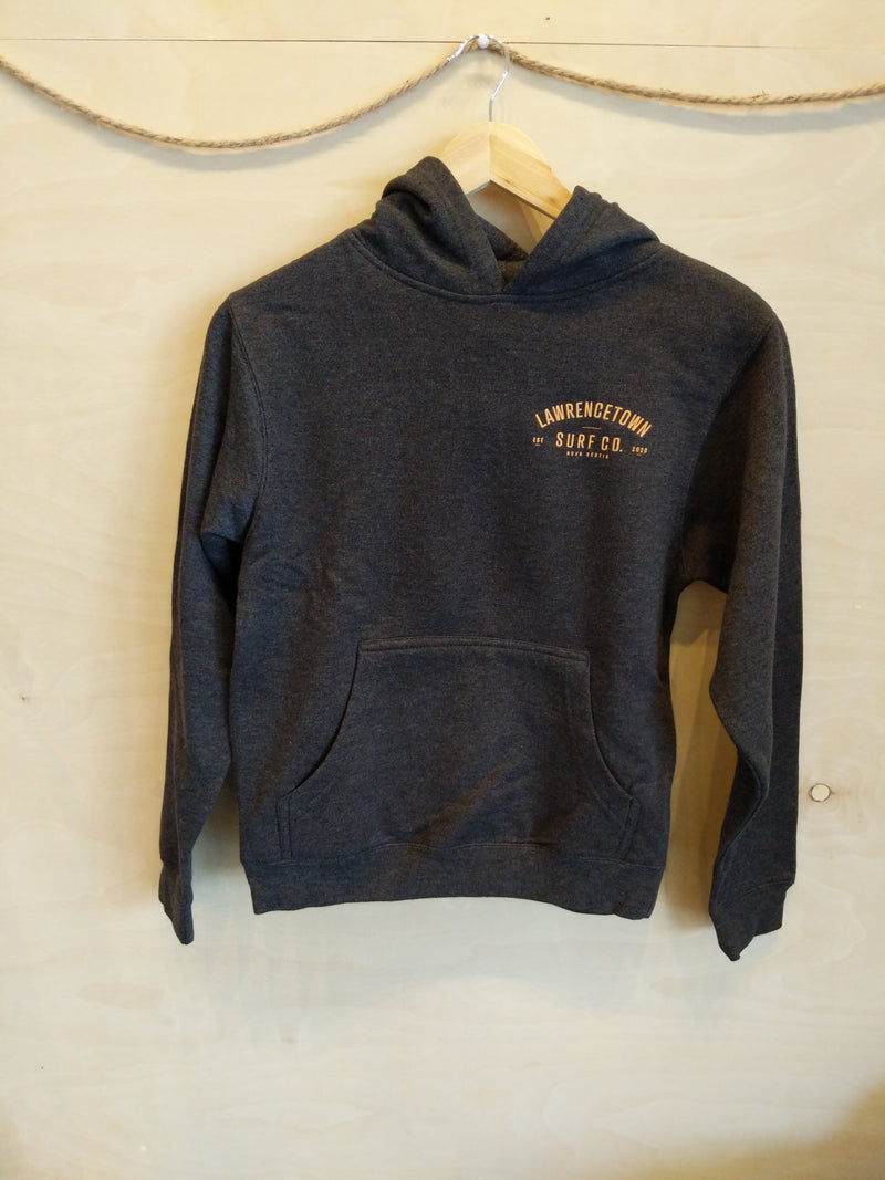 Lawrencetown Surf Co. Youth Heavy Blend Hoodie - Charcoal Grey / Peach