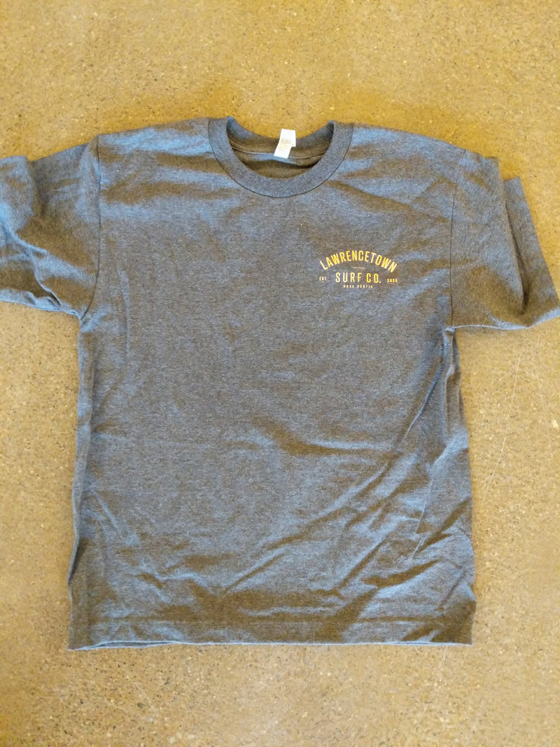 Lawrencetown Surf Co. Youth Tee - Charcoal Grey / Peach