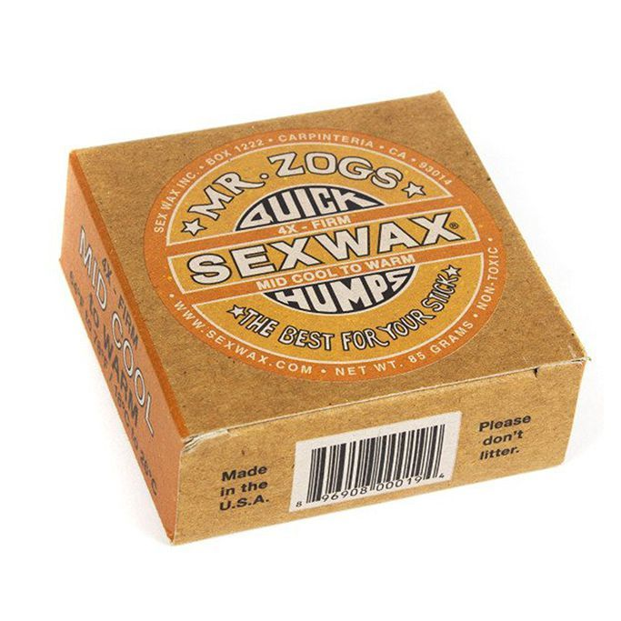 Sexwax 4x Orange Label Surf Wax Mid Cool to Warm (18 to 26 deg)