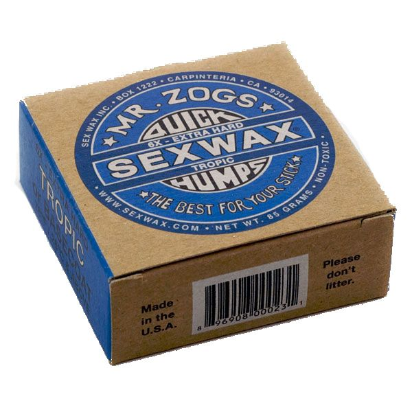 Sexwax 6x Blue Label Surf Wax Tropic (26 deg and above)