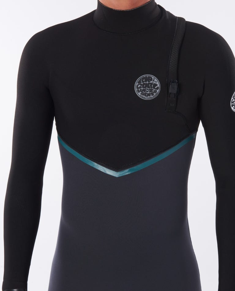 Rip Curl E Bomb 4/3 Zip Free E6 Wetsuit - Charcoal Grey