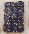Vegan Raspberry & Pistachio Brownie