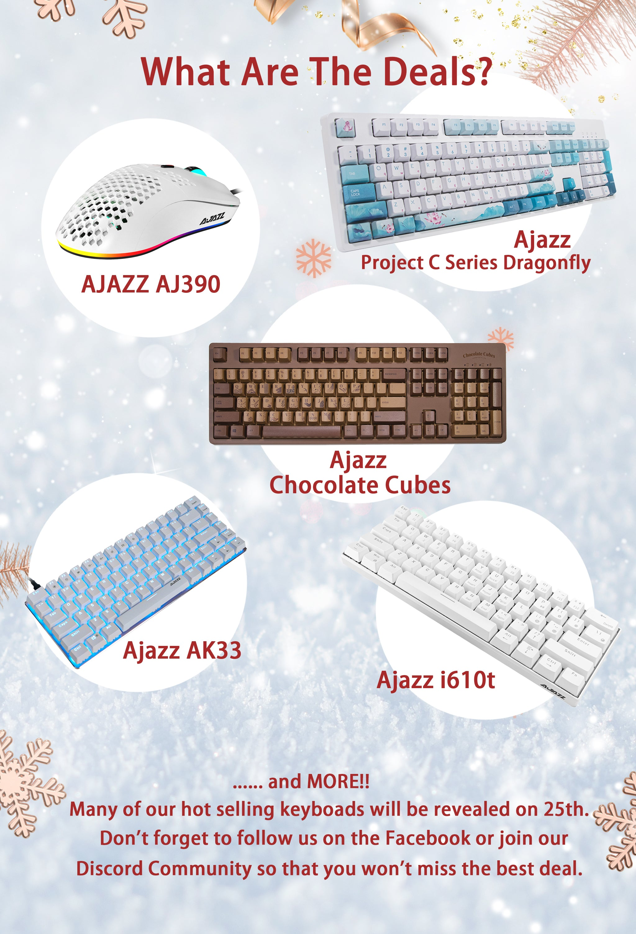 what are the deals Ajazz AJ390 Ajazz AK33 Ajazz i610t and more