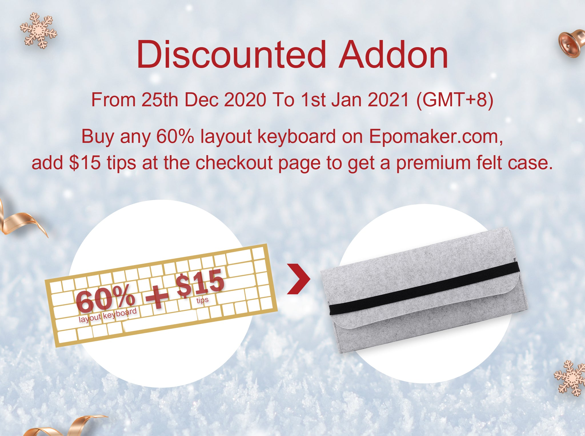 Free addon buy any 60% layout keyboard to get a carrying bag