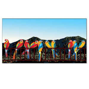 Macaws and Avila mountain