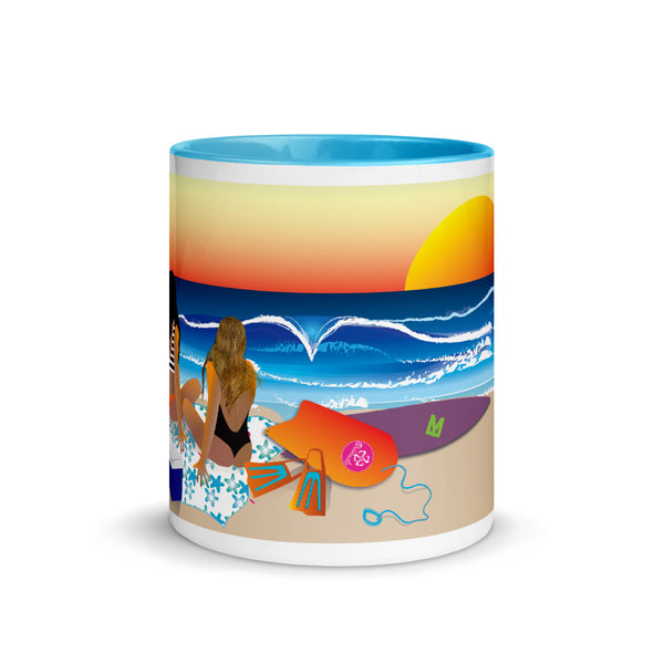 sunset Mug with Color Inside