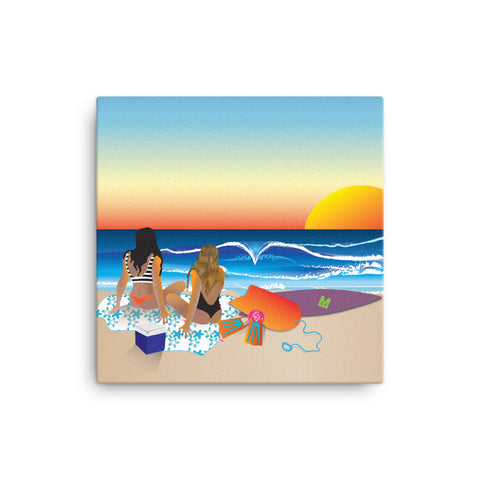 Atardecer - Sunset canva print