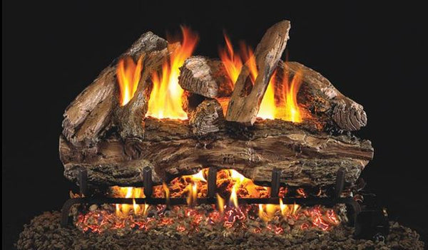 Red Oak Vented Gas Logs