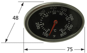 Oval Stainless Steel Heat Indicator for more than 25 Gas Grill Brands