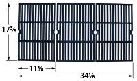 Matte Cast Iron Cooking Grid for Grill Chef Brand Gas Grills