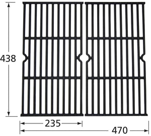 Matte Cast Iron Cooking Grid for Kenmore Brand Gas Grills