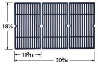 Load image into Gallery viewer, Matte Cast Iron 3-pc Cooking Grid Set for Charbroil and Cuisinart