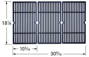 Matte Cast Iron 3-pc Cooking Grid Set for Charbroil and Cuisinart