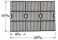 Matte Cast Iron 3-pc Cooking Grid Set for Broil King and Centro