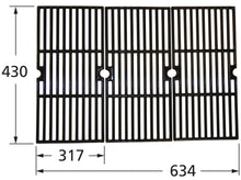 Load image into Gallery viewer, Matte Cast Iron 3-pc Cooking Grid Set for Broil King and Centro