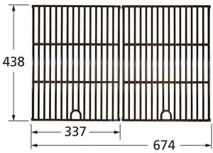 Gloss Cast Iron Cooking Grid for Charbroil, Kenmore, and Master Forge