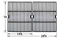 Gloss Cast Iron Cooking Grid for Ducane, Grill Chef, and Uniflame