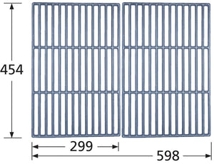 Matte Cast Iron Cooking Grid for Swiss Grill Brand Gas Grills