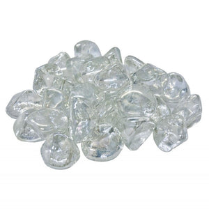 Real Fyre Clear Diamond Nuggets Fyre Glass