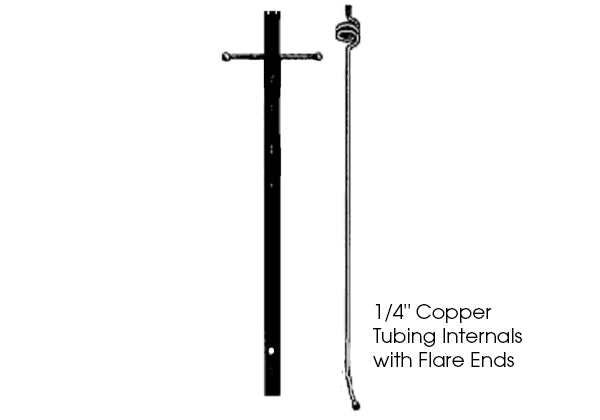 MHP Lamps, Lamp & Torch Post, 10FT Black Aluminum Lamp Post w/ Copper Internals