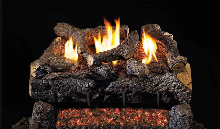 Real Fye Evening Fyre Charred See-Thru Vent Free Logs ECV-2