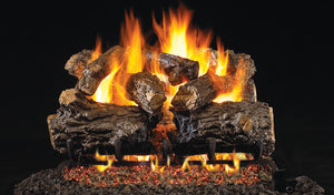 Real Fyre Burnt Rustic Oak Vented Gas Logs