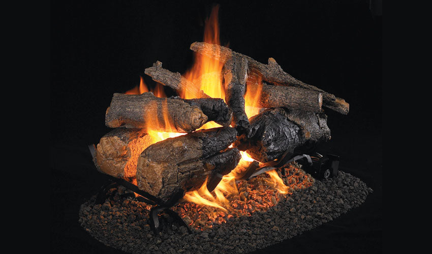 Real Fyre Charred American Oak See-Thru Vented Gas Logs - CHAO-2