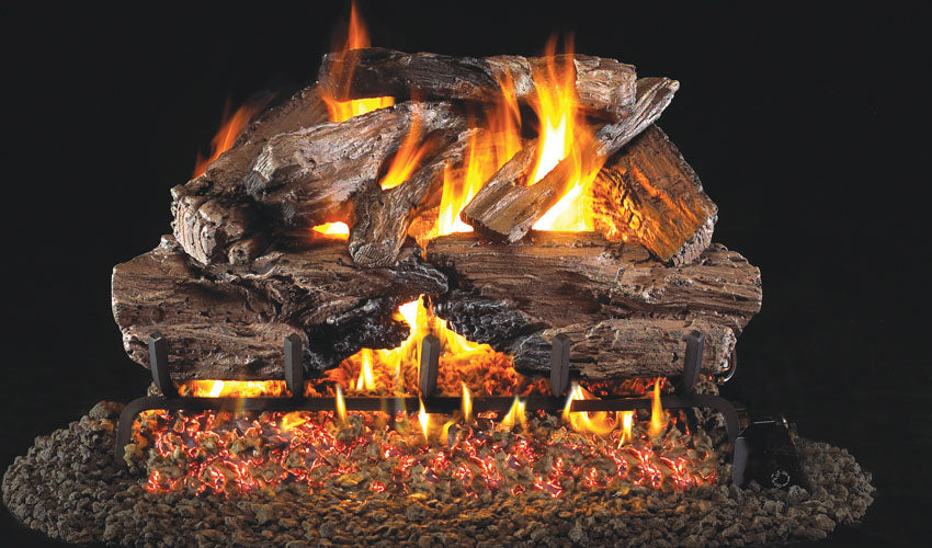 Real Fyre Charred Cedar Vented Gas Logs