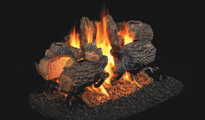 Real Fyre Charred Oak See-Thru Vented Gas Logs - CHD-2